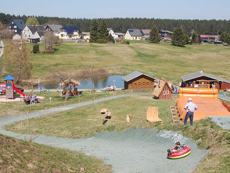 Tubing Anlage Siegmundsburg   Ausflugstipp Pension Oberhof